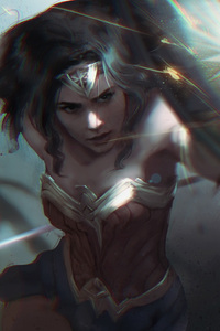 480x854 Wonder Woman 4k Digital Art