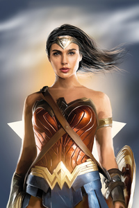 1080x2160 Wonder Woman 4k New Artwork