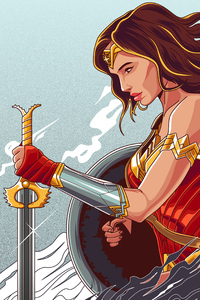 640x1136 Wonder Woman 4k New Artworks