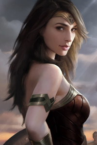 640x960 Wonder Woman Artwork 4k 2018