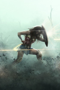 480x800 Wonder Woman Artwork HD 2018
