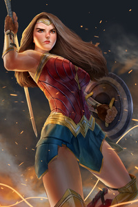 320x568 Wonder Woman Fan Made Art