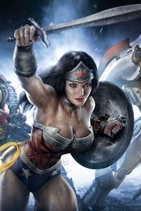 320x568 Wonder Woman Infinite Crisis