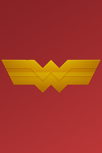 640x1136 Wonder Woman Logo Art
