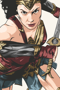 1440x2960 Wonder Woman New Artwork 4k