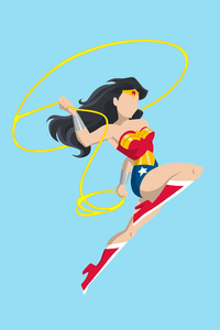 2160x3840 Wonder Woman Vector Style