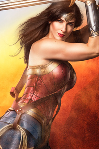 640x1136 Wonder Woman With Sword Cosplay 4k