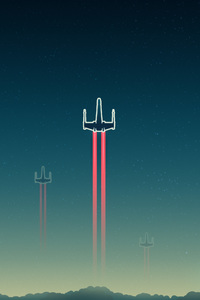 1125x2436 X Wing Ship Artwork