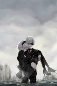 1125x2436 YoRHa No 2 Type B And Type S Nier Automata