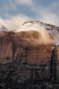 480x800 Zion National Park United States Rock Mountains Sunlight Glow 8k